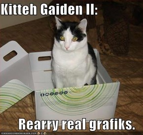 Kitteh Gaiden II:  Rearry real grafiks.
