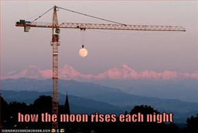 how the moon rises each night