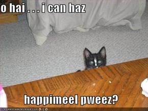 o hai . . . i can haz  happimeel pweez?