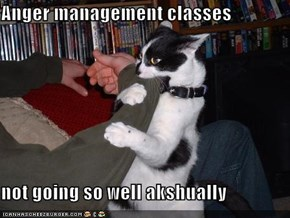 Anger management classes  not going so well akshually
