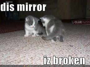 dis mirror  iz broken