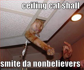 ceiling cat shall  smite da nonbelievers