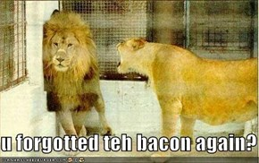 u forgotted teh bacon again?