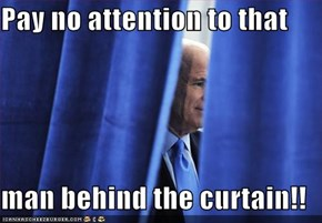 Pay no attention to that  man behind the curtain!!