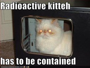 Radioactive kitteh  has to be contained
