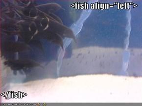 """<fish align=""""left"""">  </fish>"""
