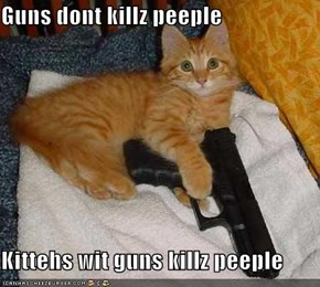 Guns dont killz peeple  Kittehs wit guns killz peeple
