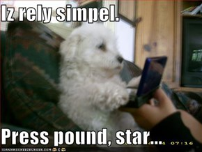 Iz rely simpel.  Press pound, star...