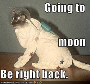 Going to   moon Be right back.