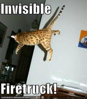 Invisible  Firetruck!