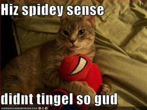 Hiz spidey sense  didnt tingel so gud