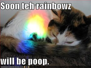 Soon teh rainbowz  will be poop.