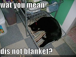 wat you mean  dis not blanket?