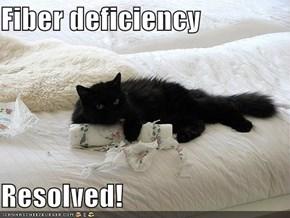 Fiber deficiency  Resolved!