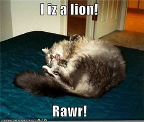 I iz a lion!  Rawr!