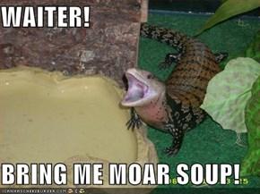 WAITER!  BRING ME MOAR SOUP!