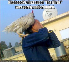 """Hitchcock's first cut of """"The Birds""""was sorely underfunded."""