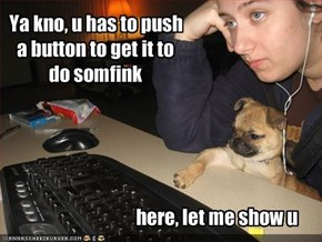 Ya kno, u has to push a button to get it to do somfink