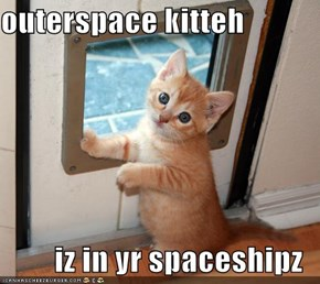 outerspace kitteh  iz in yr spaceshipz