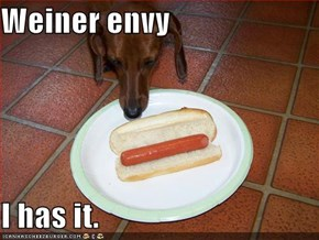 Weiner envy  I has it.