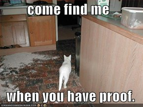 come find me  when you have proof.