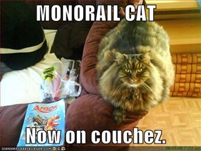 MONORAIL CAT  Now on couchez.