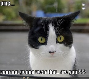 OMG....  your not gonna wear that...are you???
