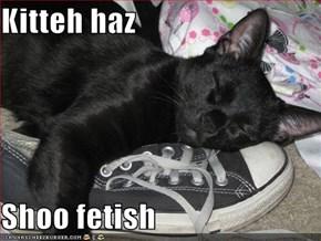 Kitteh haz  Shoo fetish