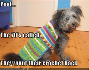 Psst... The 70's called They want their crochet back