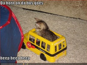 Da horn on da bus goes  beep beep beep