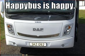 Happybus is happy.