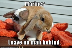 Marines  Leave no man behind.