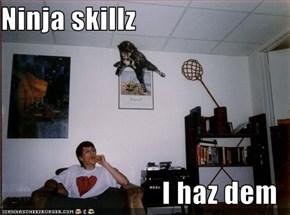 Ninja skillz  I haz dem