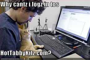 Why cantz i logz in tos  HotTabbyKitz.com?