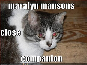 maralyn mansons close companion