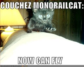 COUCHEZ MONORAILCAT:  NOW CAN FLY