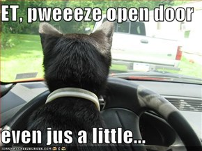 ET, pweeeze open door  even jus a little...