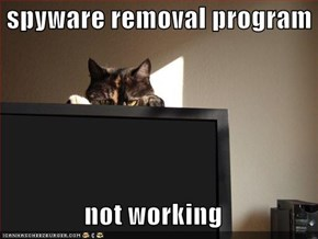 spyware removal program  not working