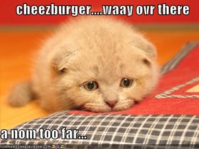 cheezburger....waay ovr there  a nom too far...