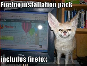 Firefox installation pack  includes firefox
