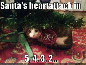 Santa's heartattack in   5, 4, 3, 2...
