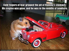 Cold fingers of fear gripped the pit of Hammy's stomach. His engine was gone, and he was in the middle of nowhere.