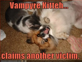 Vampyre Kitteh...    claims another victim.