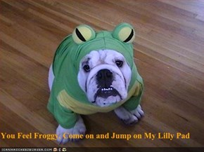 You Feel Froggy, Come on and Jump on My Lilly Pad