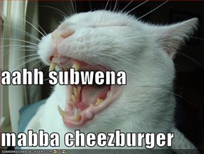 aahh subwena  mabba cheezburger