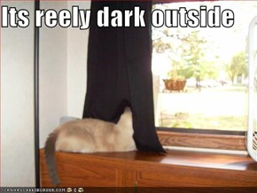 Its reely dark outside