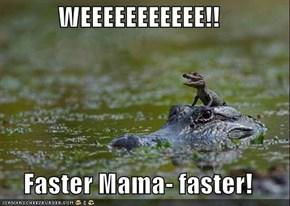 WEEEEEEEEEEE!!  Faster Mama- faster!