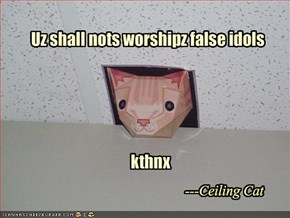 Uz shall nots worshipz false idols