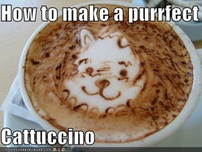 How to make a purrfect  Cattuccino