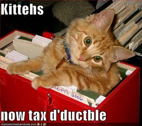 Kittehs  now tax d'ductble
